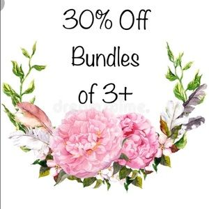 30% Off Bundles of 3+ Items